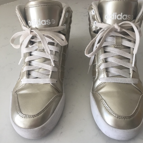 low priced a690d 38ed3 Gold Adidas NEO Label High Tops. M 5bd6196f4ab6332b40854710